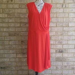 Gorgeous Dressbarn Dress Red V neck Sz 18
